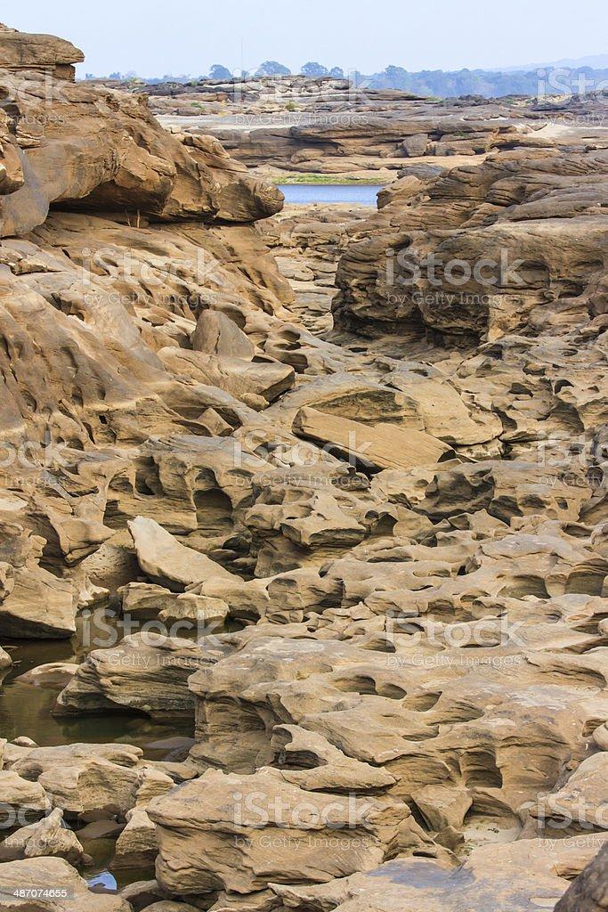 Lanscape of Grand Canyon Sam Phan Bok, Ubon Ratchathani, Thailand stock photo