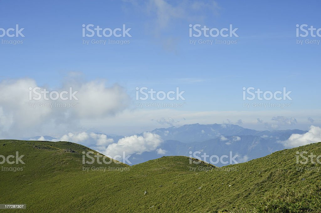 lanscape of Green hill scenic. royalty-free stock photo