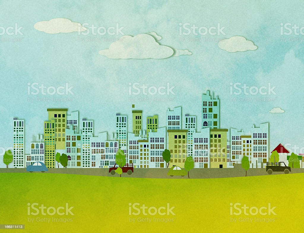 lanscape with city royalty-free stock photo