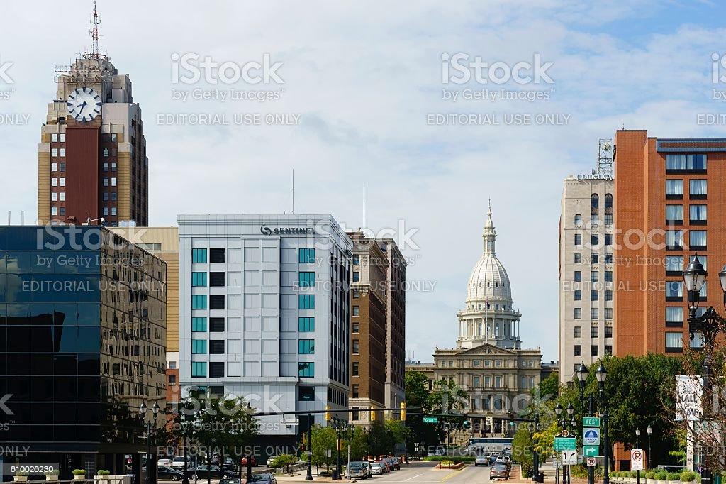 Lansing Michigan Skyline stock photo