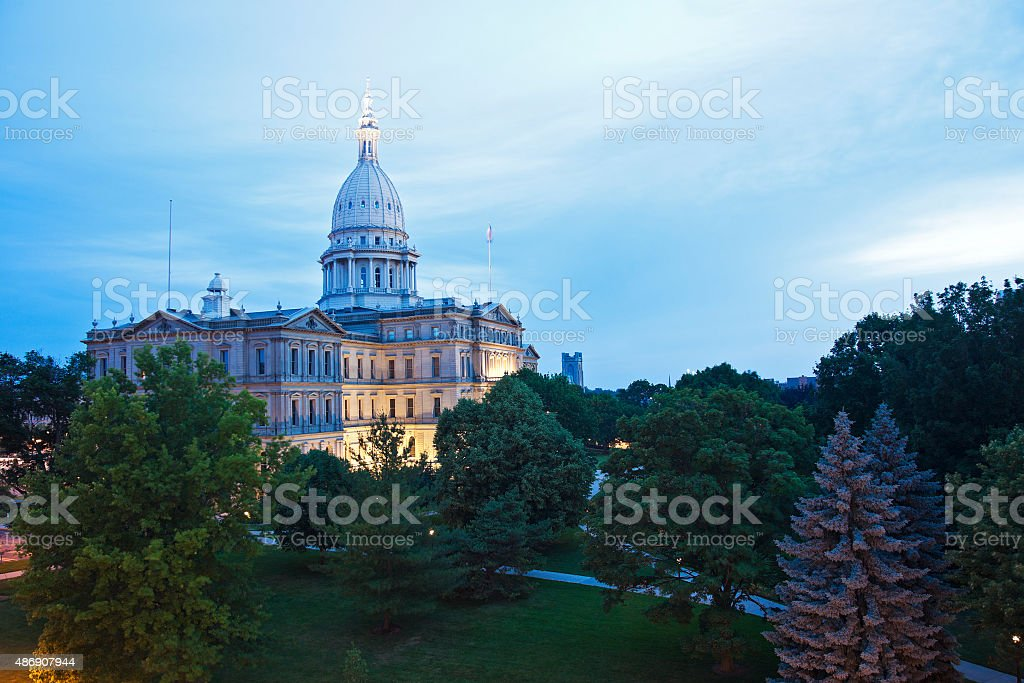 Lansing, Michigan - State Capitol Building stock photo