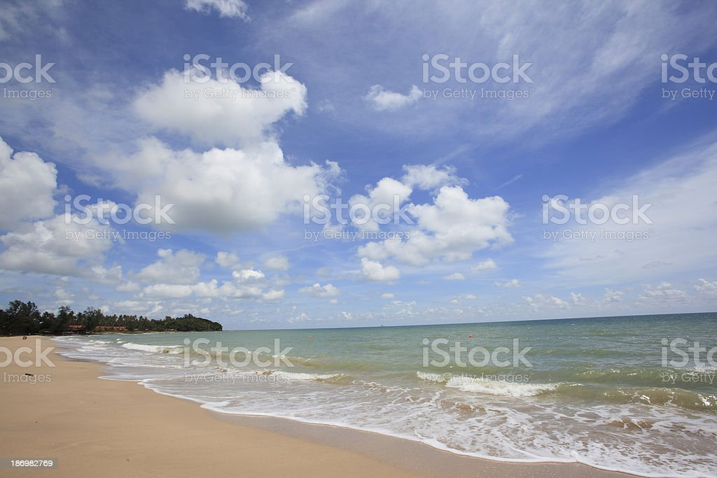 Lanta island beach at Krabi ,Thailand royalty-free stock photo