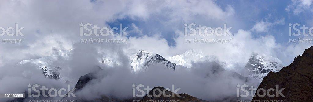 Lantang. Everest Circuit. Nepal motives stock photo