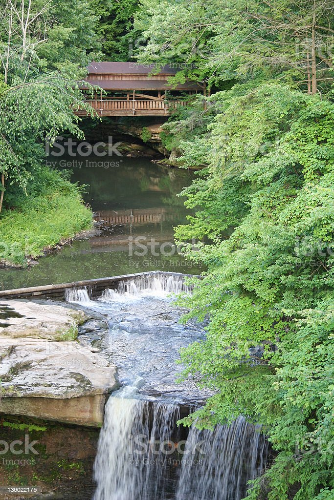 Lanterman's Mill Waterfall - Youngstown, Ohio royalty-free stock photo