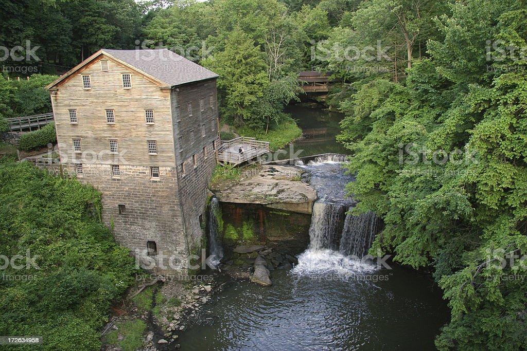 Lanterman's Mill - Youngstown, Ohio stock photo