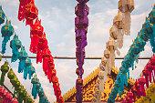 lantern festival in Lamphun, thailand