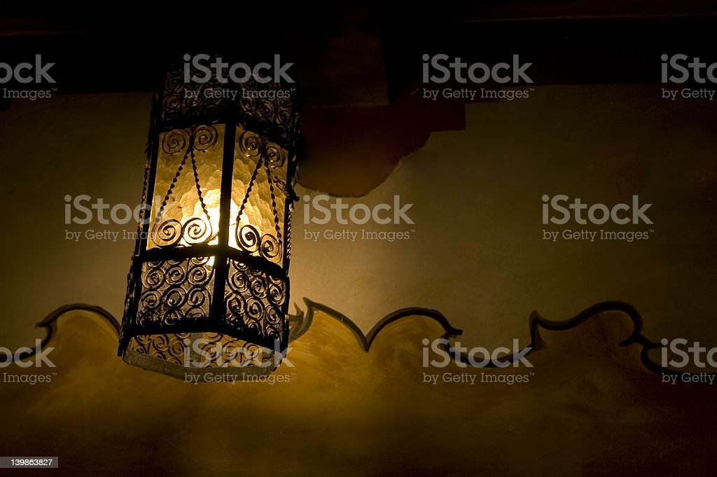 Lantern in Carmel Mission royalty-free stock photo