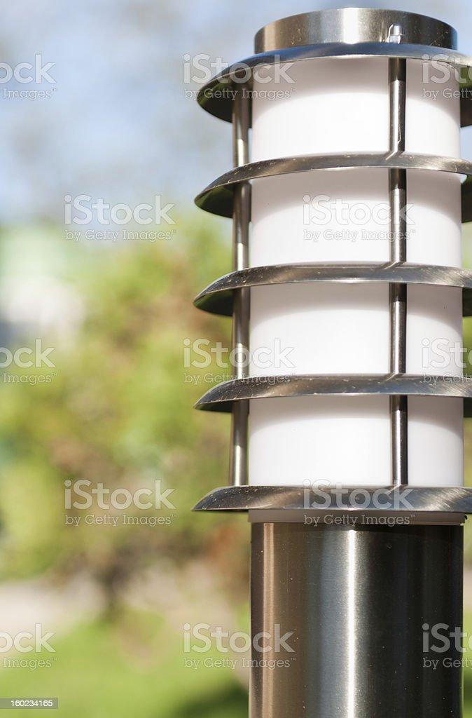 lantern in the garden royalty-free stock photo