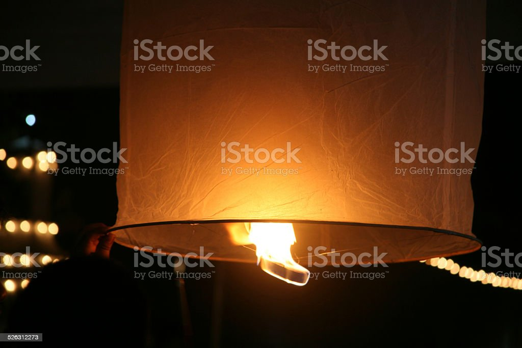 Lantern in the night royalty-free stock photo