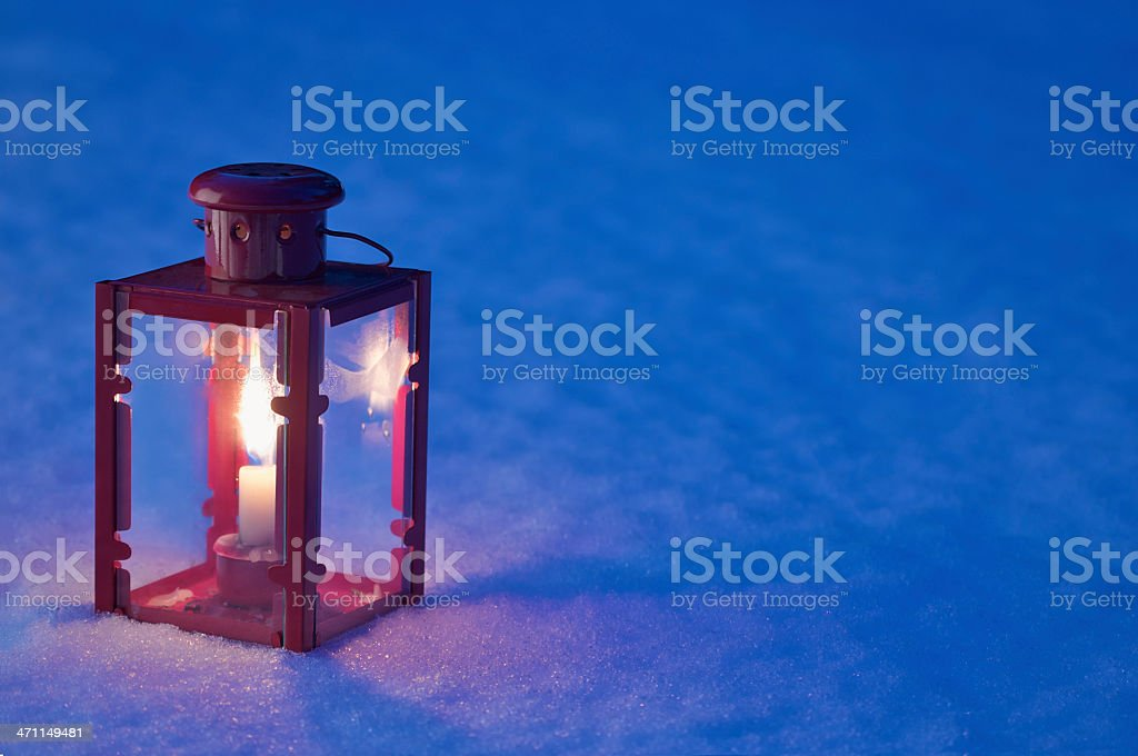 Lantern in the Snow royalty-free stock photo