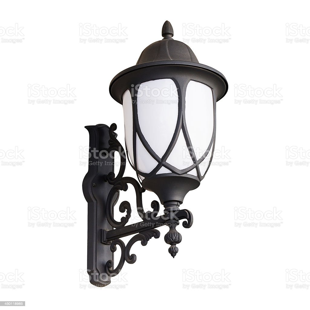 lantern Isolated on white with clipping path royalty-free stock photo