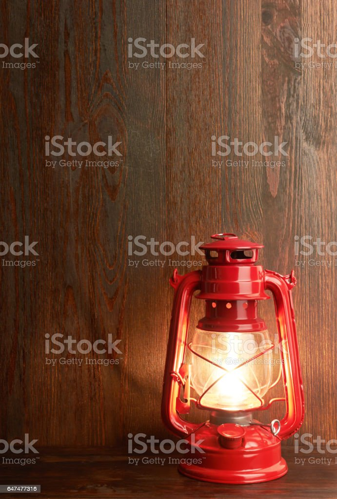 Lantern kerosene oil lamp stock photo