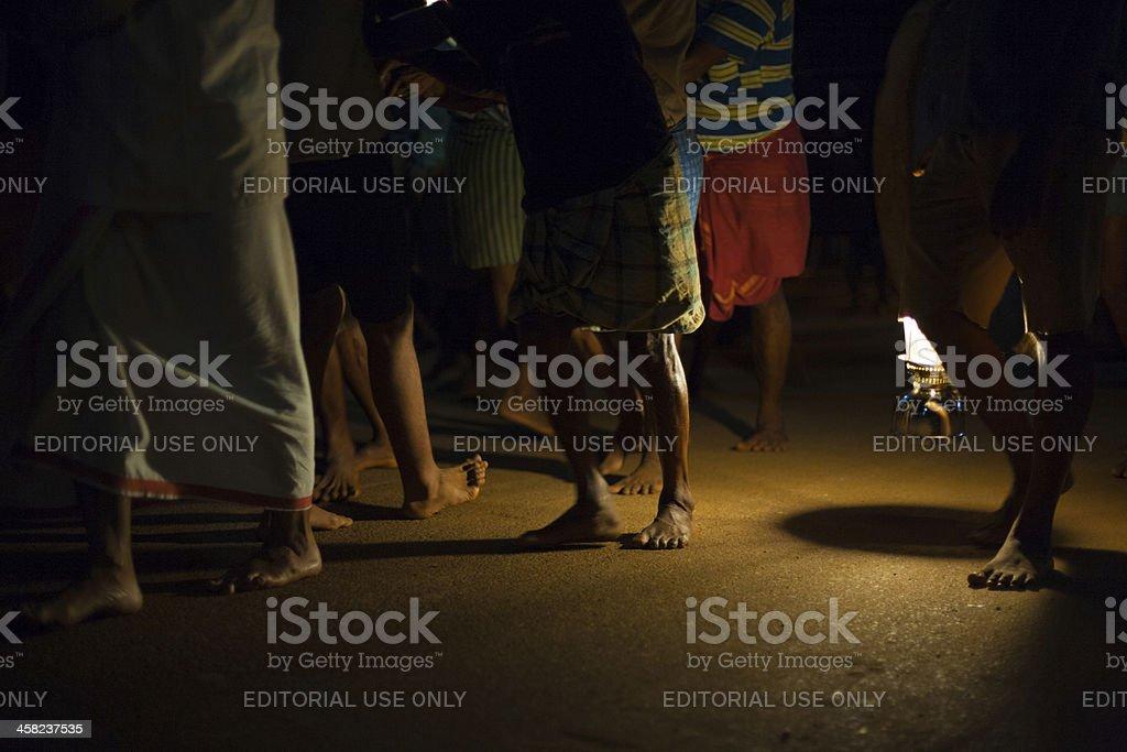 Lantern Night Men Road Pulling Ratha Gokarna royalty-free stock photo