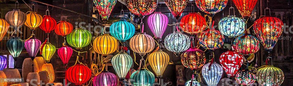 lanterns at Hoi An stock photo
