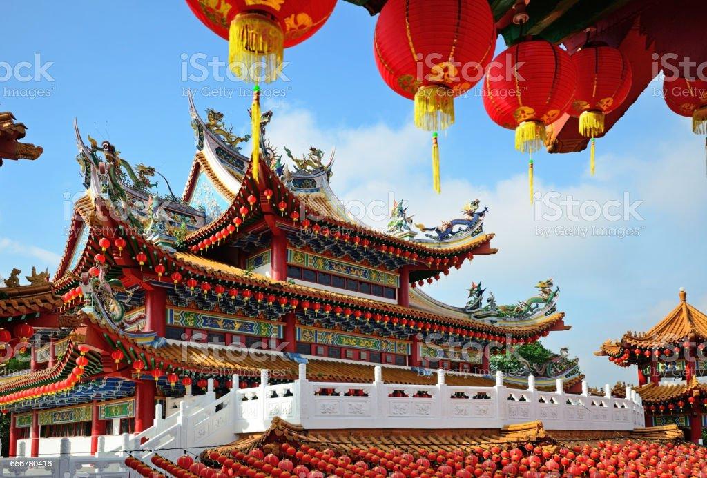 Lanterns decoration during Chinese New Year stock photo