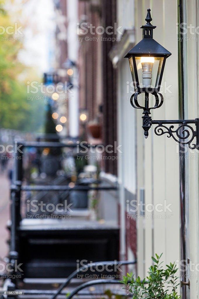Lanterns in Amsterdam stock photo