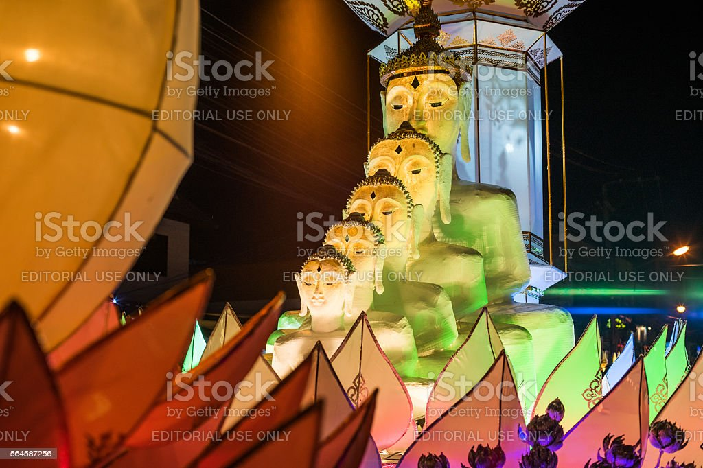Lanterns in festival stock photo