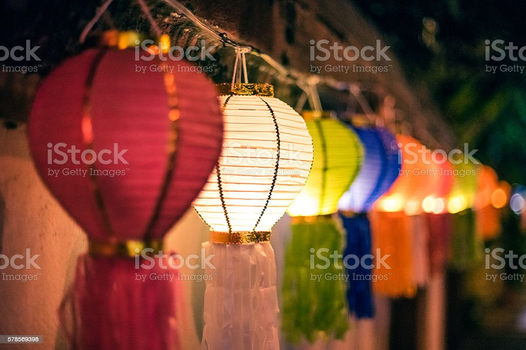 Lanterns in festival stock photo