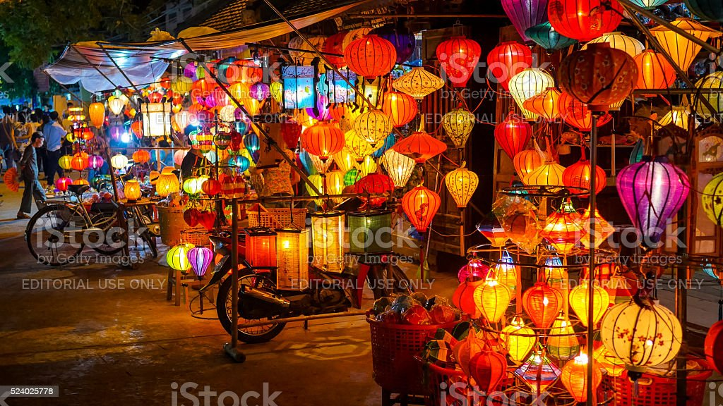 Lanterns in Hoi An, Vietnam stock photo