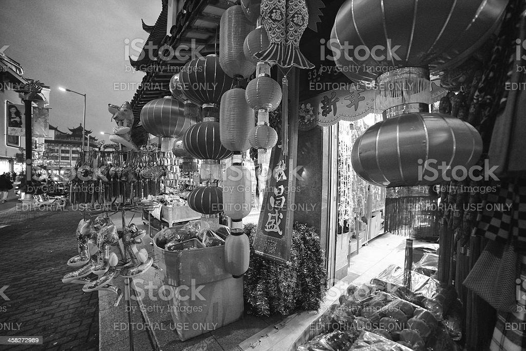 Lanterns in Shaghai royalty-free stock photo