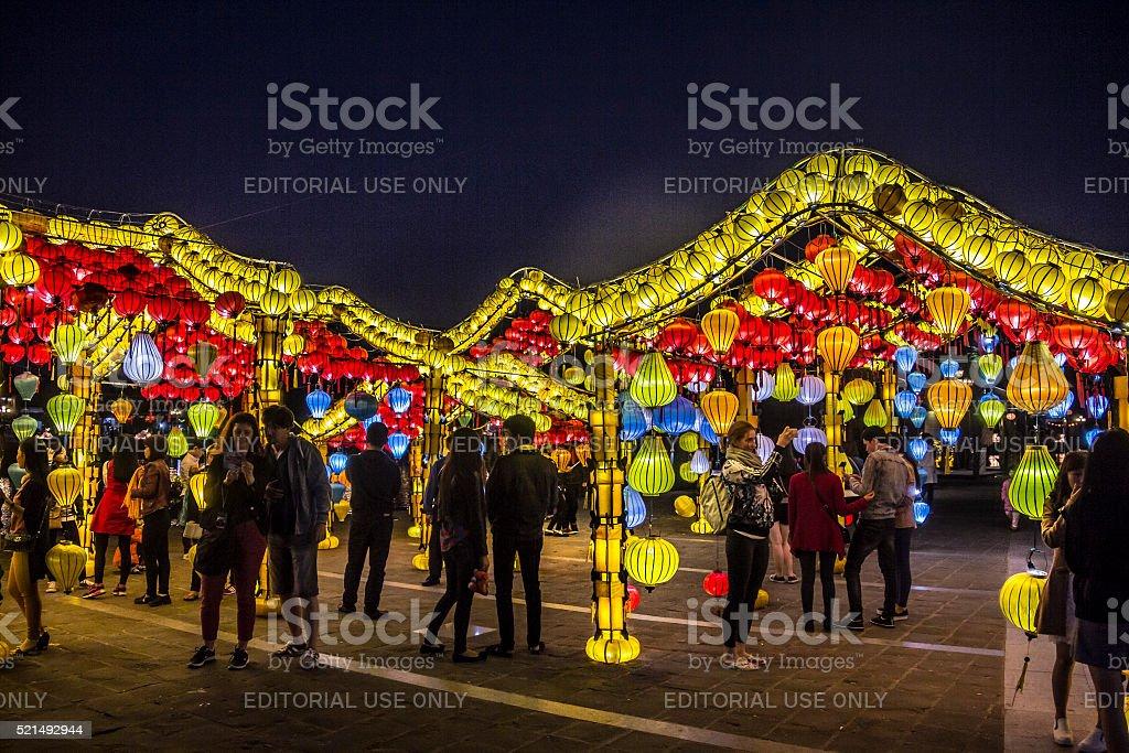 lanterns of Hoi An stock photo
