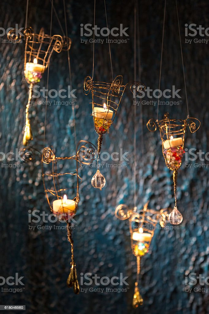 Lanterns With Candles stock photo