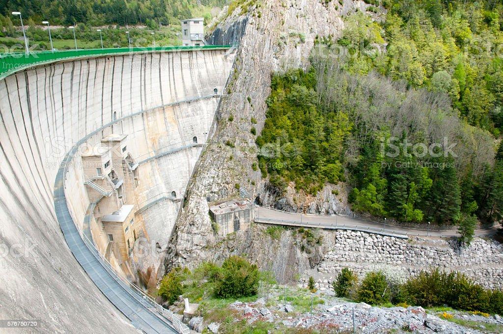 Lanuza Dam - Spain stock photo