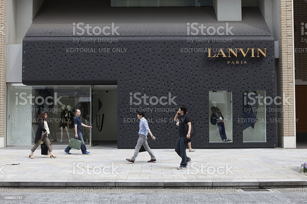 Lanvin Boutique in Tokyo, Japan royalty-free stock photo