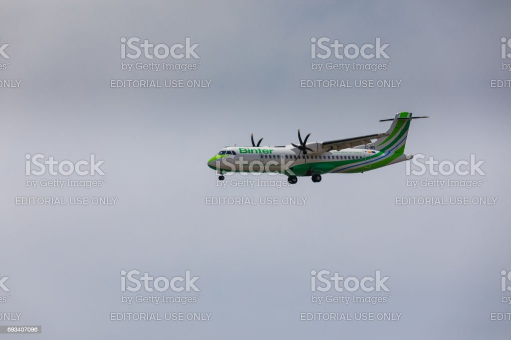 Lanzarote Airport stock photo