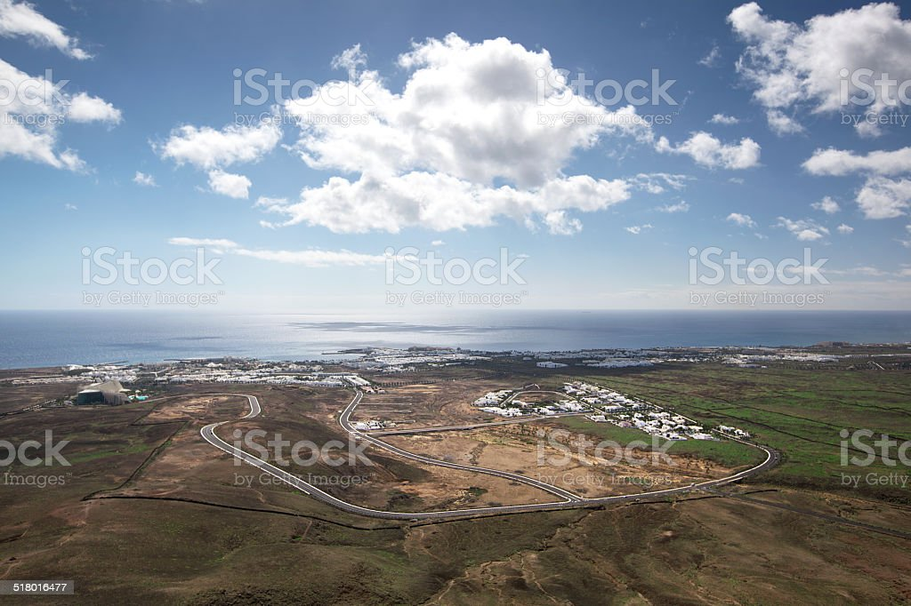 Lanzarote - Arial view of Costa Teguise royalty-free stock photo