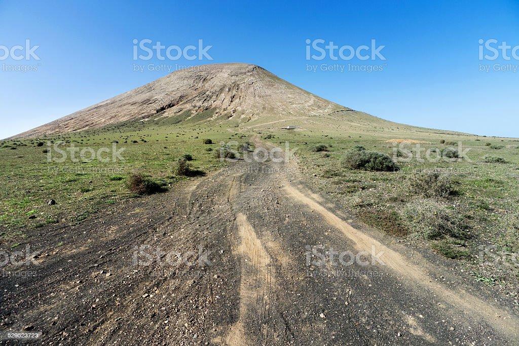 Lanzarote - Ascent to the Montana Blanca royalty-free stock photo