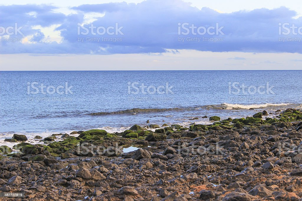 Lanzarote beach on Spanish Canary Island stock photo