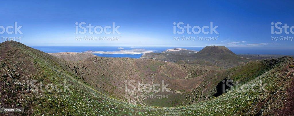 Lanzarote - Caldera of the volcano Los Helechos royalty-free stock photo