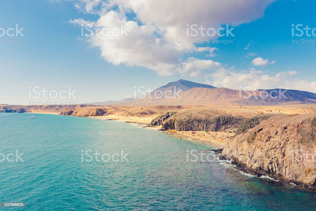 Lanzarote coast stock photo