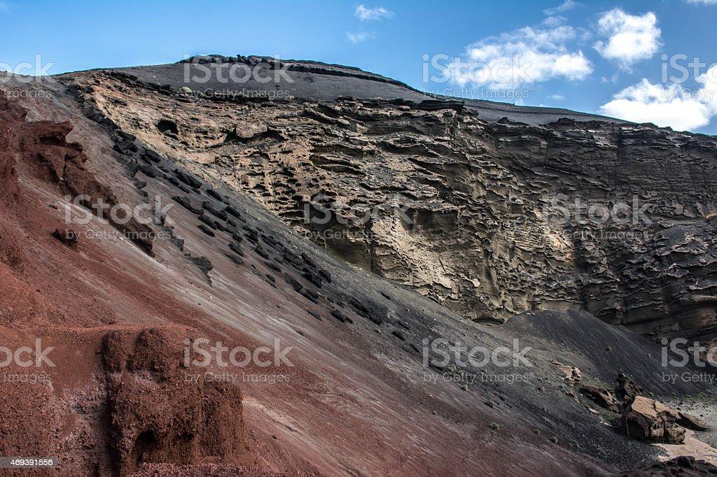 Lanzarote, El Golfo stock photo