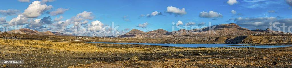 Lanzarote - Laguna de Janubio stock photo
