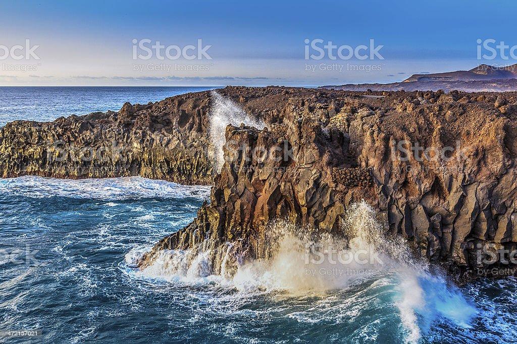 Lanzarote - Los Hervideros stock photo