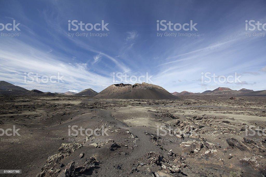 Lanzarote - Montana del Cuervo royalty-free stock photo