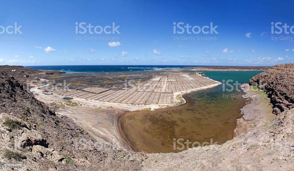 Lanzarote - The saline Salinas de Janubio royalty-free stock photo