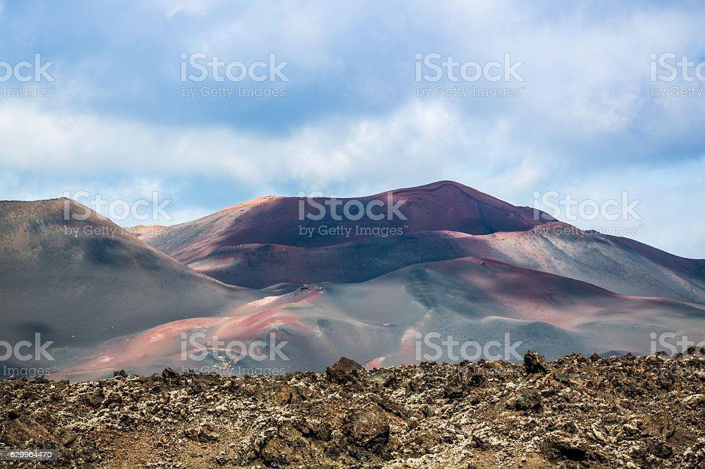 Lanzarote Timanfaya-Nationalpark stock photo