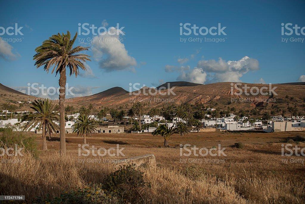 Lanzarote typical village. royalty-free stock photo