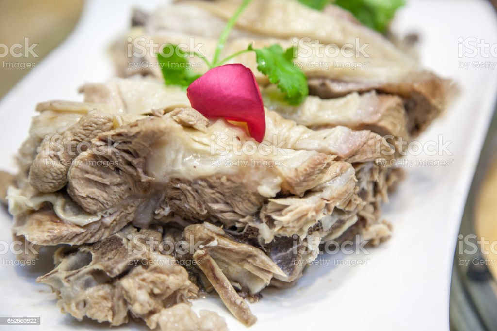 Lanzhou, China features delicious steamed mutton stock photo