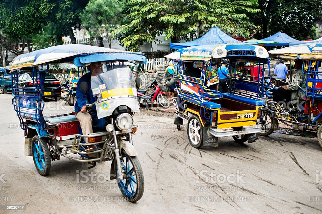 Lao Tuktuks royalty-free stock photo
