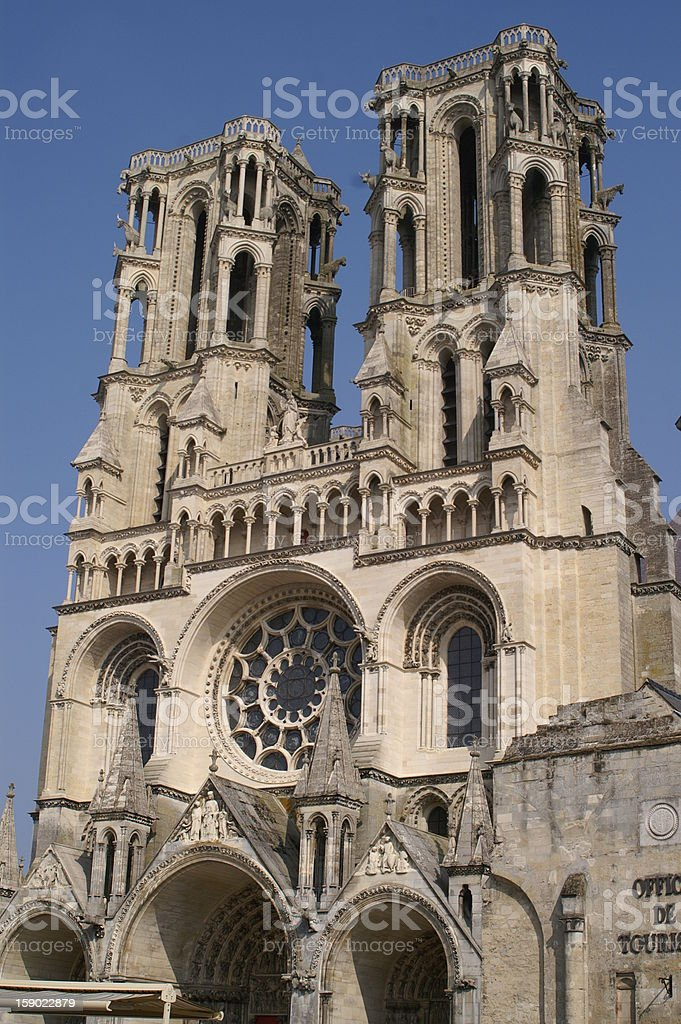 Laon Cathedral royalty-free stock photo