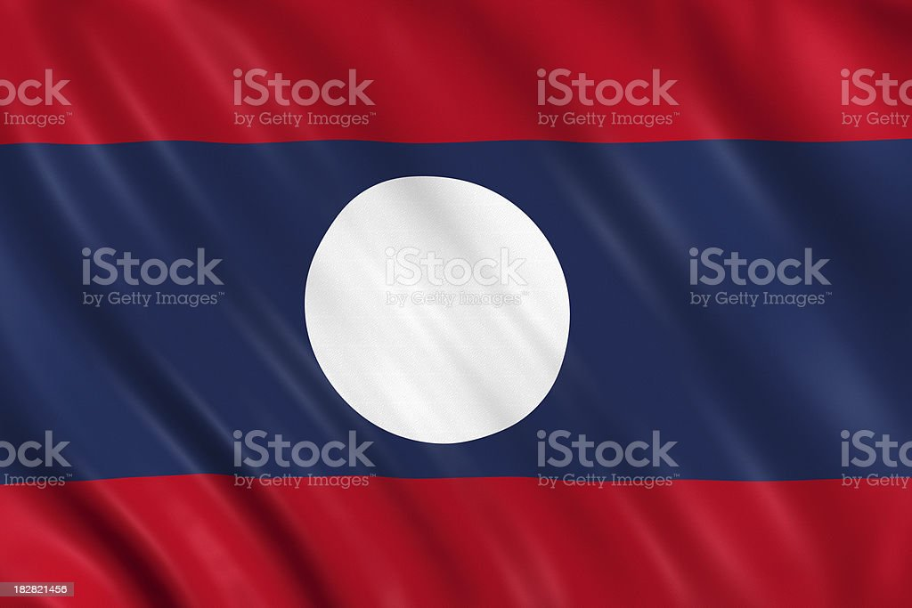 laos flag stock photo