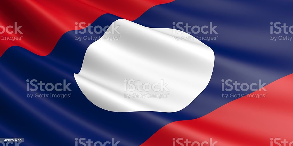 Laos flag. royalty-free stock photo