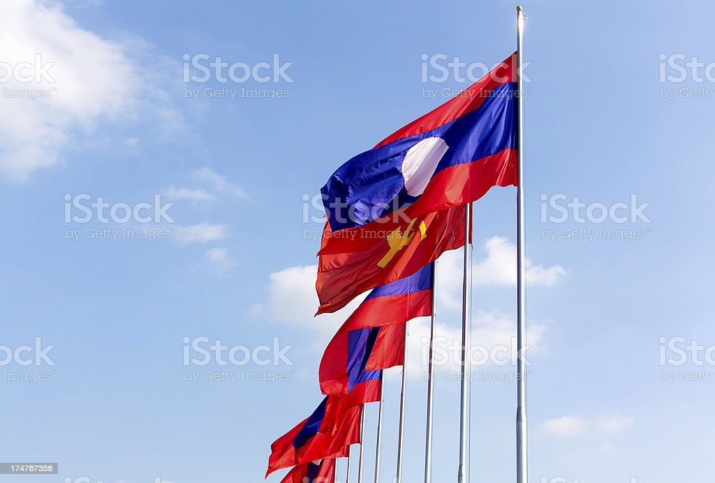 laos flag's stock photo