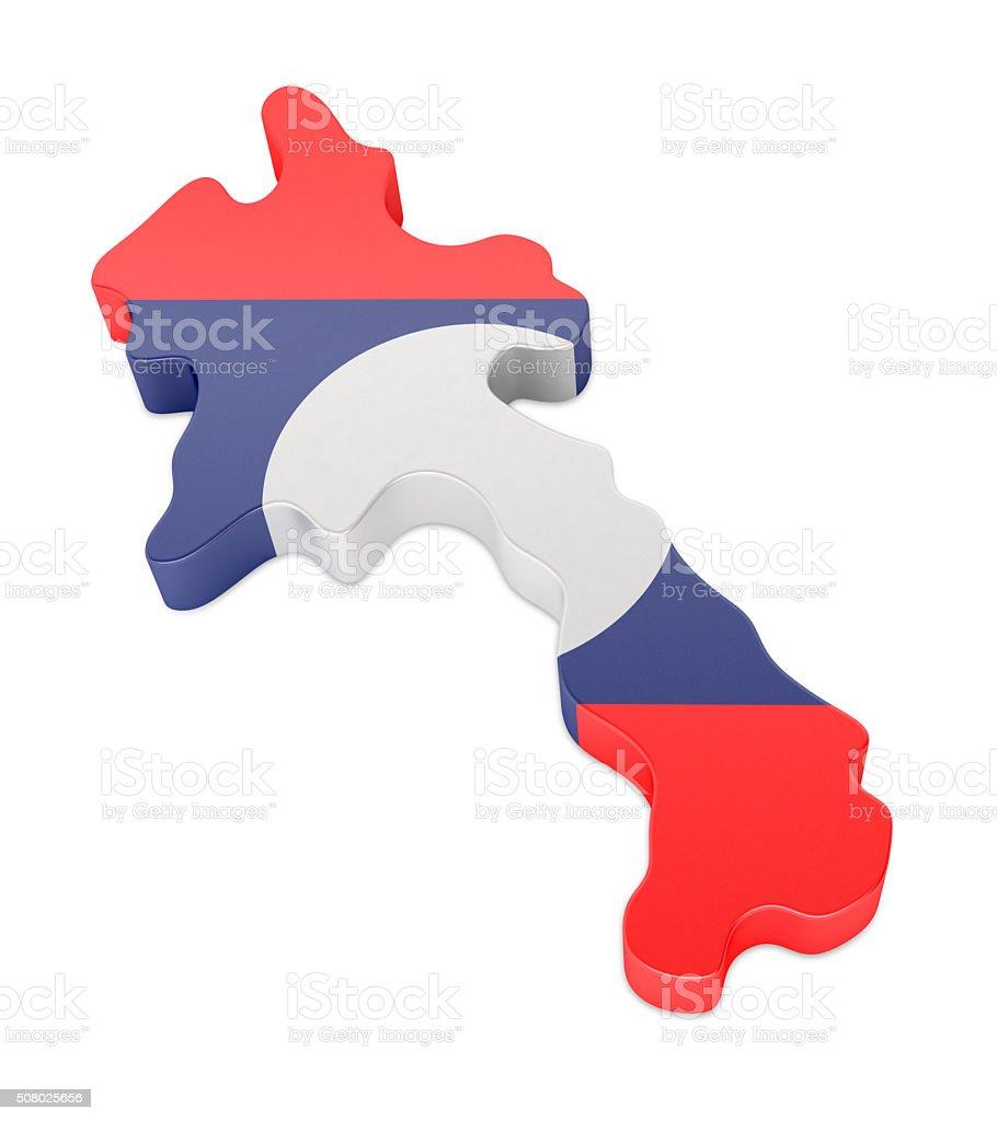 Laos Map stock photo