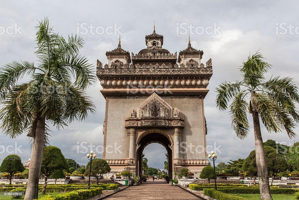 Laos Patuxai stock photo