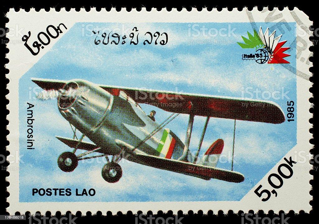 Laos postage stamp stock photo